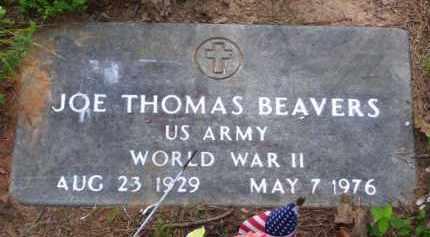 BEAVERS (VETERAN WWII), JOE THOMAS - Baxter County, Arkansas | JOE THOMAS BEAVERS (VETERAN WWII) - Arkansas Gravestone Photos