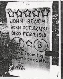 BENCH, JOHN C. - Baxter County, Arkansas   JOHN C. BENCH - Arkansas Gravestone Photos