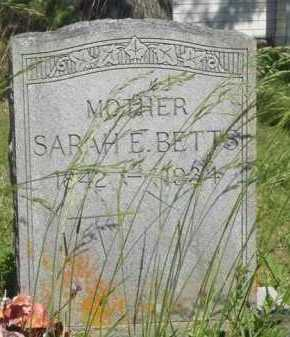 BETTS, SARAH E. - Baxter County, Arkansas | SARAH E. BETTS - Arkansas Gravestone Photos