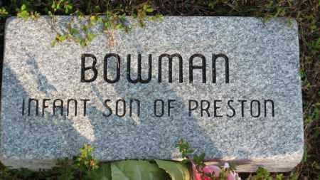 BOWMAN, INFANT SON - Baxter County, Arkansas | INFANT SON BOWMAN - Arkansas Gravestone Photos