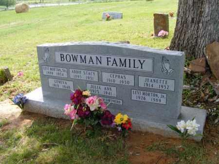 BOWMAN, ADDIE - Baxter County, Arkansas | ADDIE BOWMAN - Arkansas Gravestone Photos