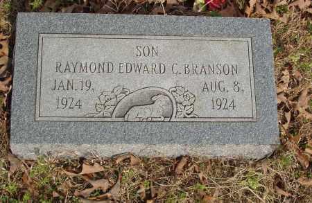 BRANSON, RAYMOND EDWARD C. - Baxter County, Arkansas | RAYMOND EDWARD C. BRANSON - Arkansas Gravestone Photos