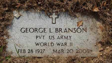 BRANSON (VETERAN WWII), GEORGE LESTER - Baxter County, Arkansas | GEORGE LESTER BRANSON (VETERAN WWII) - Arkansas Gravestone Photos