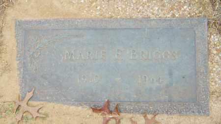BRIGGS, MARIE F. - Baxter County, Arkansas | MARIE F. BRIGGS - Arkansas Gravestone Photos