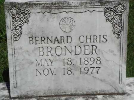 BRONDER, BERNARD CHRIS - Baxter County, Arkansas | BERNARD CHRIS BRONDER - Arkansas Gravestone Photos
