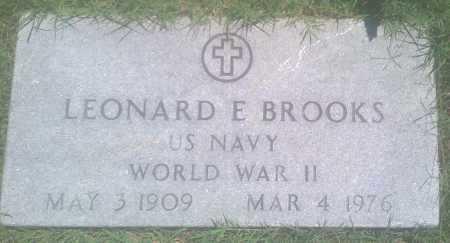 BROOKS  (VETERAN WWII), LEONARD E. - Baxter County, Arkansas   LEONARD E. BROOKS  (VETERAN WWII) - Arkansas Gravestone Photos