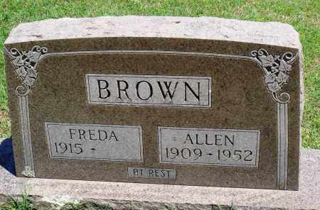 BROWN, ALLEN - Baxter County, Arkansas | ALLEN BROWN - Arkansas Gravestone Photos