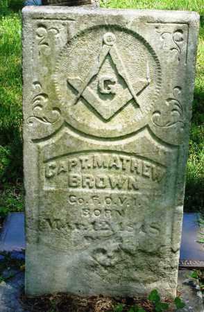 BROWN (2), CAPT. MATTHEW - Baxter County, Arkansas | CAPT. MATTHEW BROWN (2) - Arkansas Gravestone Photos