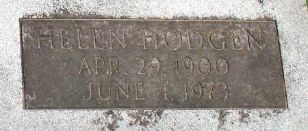 BROWN, HELEN HODGEN (CLOSE UP) - Baxter County, Arkansas | HELEN HODGEN (CLOSE UP) BROWN - Arkansas Gravestone Photos