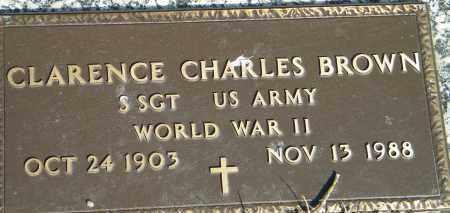 BROWN (VETERAN WWII), CLARENCE CHARLES - Baxter County, Arkansas | CLARENCE CHARLES BROWN (VETERAN WWII) - Arkansas Gravestone Photos