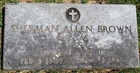 BROWN (VETERAN WWII), SHERMAN ALLEN - Baxter County, Arkansas | SHERMAN ALLEN BROWN (VETERAN WWII) - Arkansas Gravestone Photos