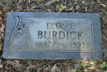 BURDICK, ELON E. - Baxter County, Arkansas | ELON E. BURDICK - Arkansas Gravestone Photos