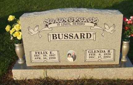 BUSSARD (VETERAN WWII), FELIX E. - Baxter County, Arkansas | FELIX E. BUSSARD (VETERAN WWII) - Arkansas Gravestone Photos