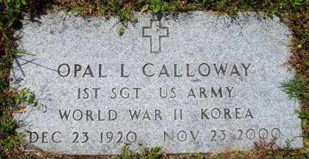 CALLOWAY (VETERAN 2 WARS), OPAL L - Baxter County, Arkansas | OPAL L CALLOWAY (VETERAN 2 WARS) - Arkansas Gravestone Photos