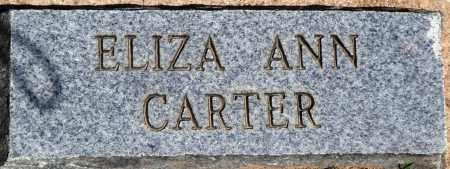 CARTER, EIZA ANN - Baxter County, Arkansas   EIZA ANN CARTER - Arkansas Gravestone Photos