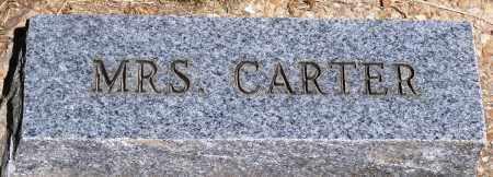 CARTER, MRS. - Baxter County, Arkansas | MRS. CARTER - Arkansas Gravestone Photos