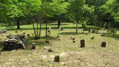 *, CURTIS CEMETERY OVERVIEW 2 - Baxter County, Arkansas | CURTIS CEMETERY OVERVIEW 2 * - Arkansas Gravestone Photos