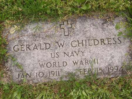 CHILDRESS (VETERAN WWII), GERALD W - Baxter County, Arkansas | GERALD W CHILDRESS (VETERAN WWII) - Arkansas Gravestone Photos