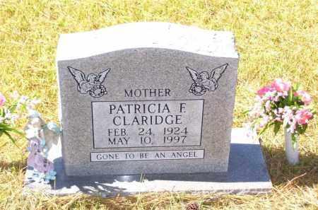 CLARIDGE, PATRICIA F. - Baxter County, Arkansas | PATRICIA F. CLARIDGE - Arkansas Gravestone Photos