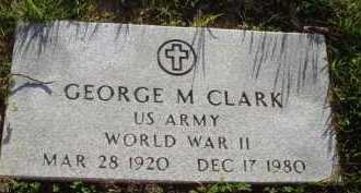 CLARK  (VETERAN WWII), GEORGE M. - Baxter County, Arkansas | GEORGE M. CLARK  (VETERAN WWII) - Arkansas Gravestone Photos