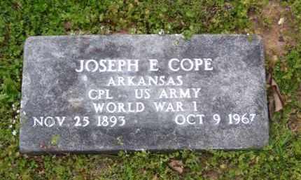 COPE (VETERAN WWI), JOSEPH E - Baxter County, Arkansas | JOSEPH E COPE (VETERAN WWI) - Arkansas Gravestone Photos