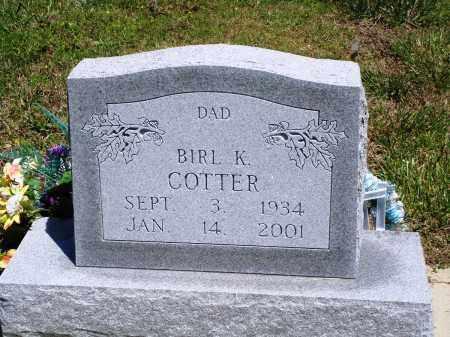 COTTER, BIRL K - Baxter County, Arkansas | BIRL K COTTER - Arkansas Gravestone Photos