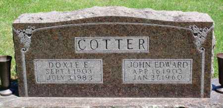 COTTER, JOHN EDWARD - Baxter County, Arkansas | JOHN EDWARD COTTER - Arkansas Gravestone Photos