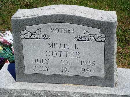 COTTER, MILLIE I - Baxter County, Arkansas | MILLIE I COTTER - Arkansas Gravestone Photos
