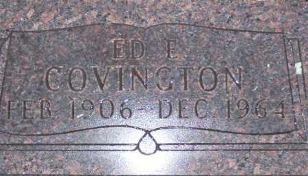 COVINGTON, EDWARD EUGENE - Baxter County, Arkansas | EDWARD EUGENE COVINGTON - Arkansas Gravestone Photos