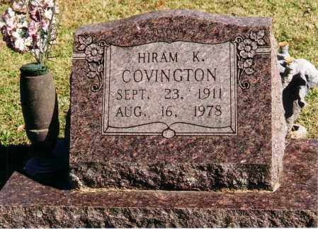 COVINGTON, HIRAM K. - Baxter County, Arkansas | HIRAM K. COVINGTON - Arkansas Gravestone Photos