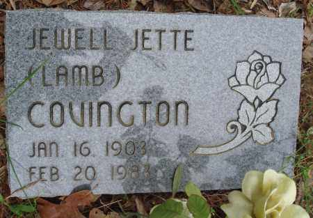 LAMB COVINGTON, JEWELL JETTE - Baxter County, Arkansas | JEWELL JETTE LAMB COVINGTON - Arkansas Gravestone Photos