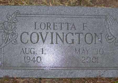 COVINGTON, LORETTA FAYE - Baxter County, Arkansas   LORETTA FAYE COVINGTON - Arkansas Gravestone Photos