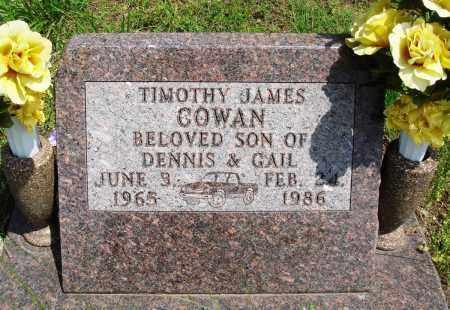 COWAN, TIMOTHY JAMES - Baxter County, Arkansas   TIMOTHY JAMES COWAN - Arkansas Gravestone Photos
