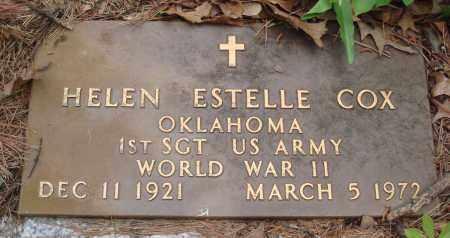 COX (VETERAN WWII), HELEN ESTELLE - Baxter County, Arkansas | HELEN ESTELLE COX (VETERAN WWII) - Arkansas Gravestone Photos