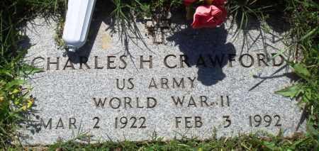 CRAWFORD (VETERAN WWII), CHARLES H - Baxter County, Arkansas | CHARLES H CRAWFORD (VETERAN WWII) - Arkansas Gravestone Photos