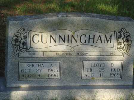 CUNNINGHAM, LLOYD D. - Baxter County, Arkansas | LLOYD D. CUNNINGHAM - Arkansas Gravestone Photos