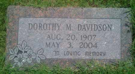DAVIDSON, DOROTHY M. - Baxter County, Arkansas | DOROTHY M. DAVIDSON - Arkansas Gravestone Photos