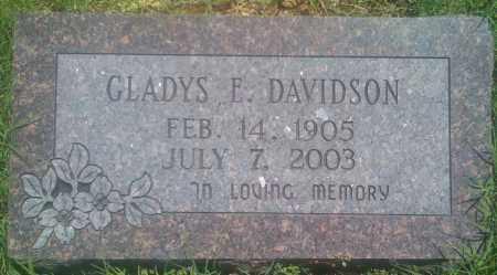 DAVIDSON, GLADYS E. - Baxter County, Arkansas   GLADYS E. DAVIDSON - Arkansas Gravestone Photos