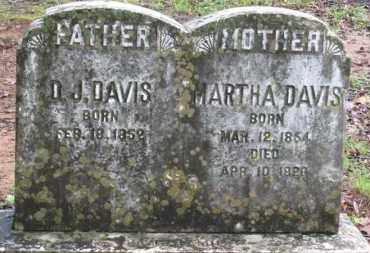 MANN DAVIS, MARTHA - Baxter County, Arkansas | MARTHA MANN DAVIS - Arkansas Gravestone Photos