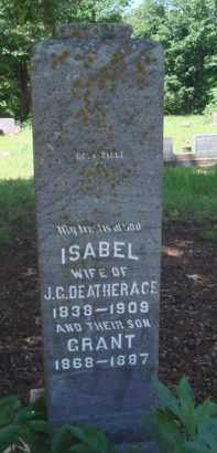 DEATHERAGE, ISABEL - Baxter County, Arkansas | ISABEL DEATHERAGE - Arkansas Gravestone Photos