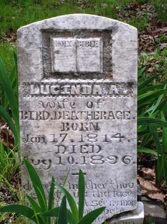 DEATHERAGE, LUCINDA A - Baxter County, Arkansas | LUCINDA A DEATHERAGE - Arkansas Gravestone Photos