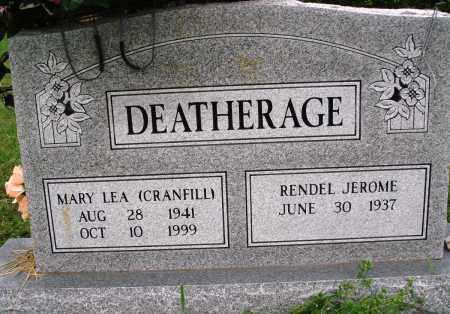 CRANFILL DEATHERAGE, MARY LEA - Baxter County, Arkansas | MARY LEA CRANFILL DEATHERAGE - Arkansas Gravestone Photos