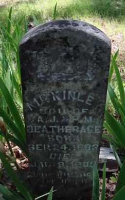 DEATHERAGE, MCKINLEY - Baxter County, Arkansas | MCKINLEY DEATHERAGE - Arkansas Gravestone Photos