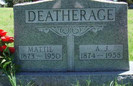 DEATHERAGE, MATTIE - Baxter County, Arkansas   MATTIE DEATHERAGE - Arkansas Gravestone Photos