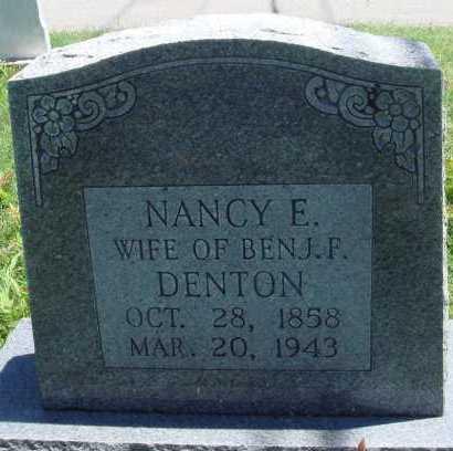 DENTON, NANCY E. - Baxter County, Arkansas   NANCY E. DENTON - Arkansas Gravestone Photos