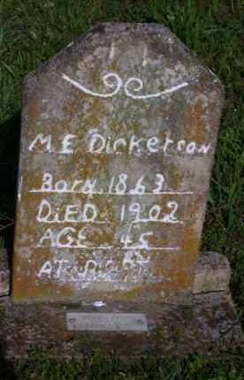 HILYARD DICKERSON (1), MARY ELLEN - Baxter County, Arkansas | MARY ELLEN HILYARD DICKERSON (1) - Arkansas Gravestone Photos
