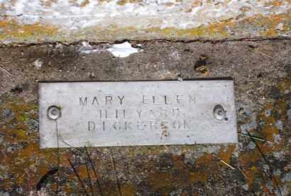 HILYARD DICKERSON (2), MARY ELLEN - Baxter County, Arkansas | MARY ELLEN HILYARD DICKERSON (2) - Arkansas Gravestone Photos