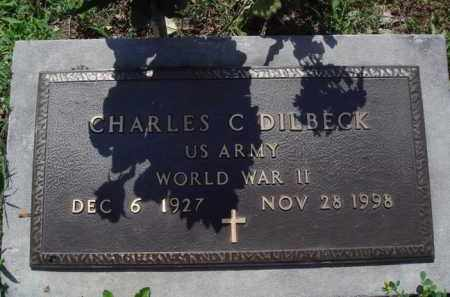 DILBECK  (VETERAN WWII), CHARLES C. - Baxter County, Arkansas | CHARLES C. DILBECK  (VETERAN WWII) - Arkansas Gravestone Photos