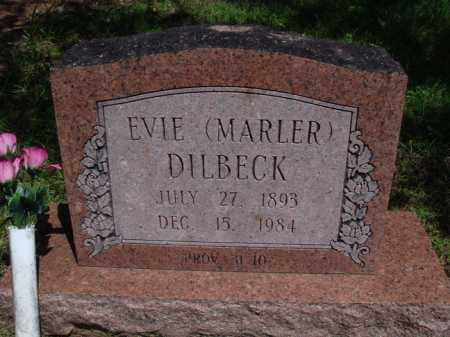 DILBECK, EVIE - Baxter County, Arkansas | EVIE DILBECK - Arkansas Gravestone Photos