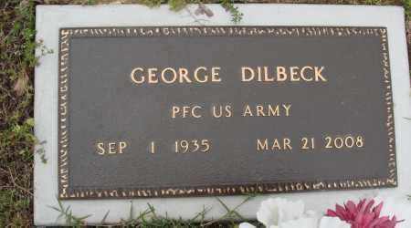 DILBECK (VETERAN), GEORGE - Baxter County, Arkansas   GEORGE DILBECK (VETERAN) - Arkansas Gravestone Photos